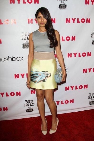 Freida Pinto at NYLON Magazine
