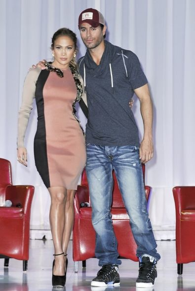 Jennifer Lopez at the Summer Tour Announcement Press Conference with Enrique Iglesias