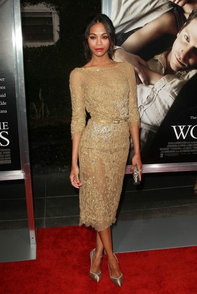 Zoe Saldana at the Los Angeles Premiere of The Words