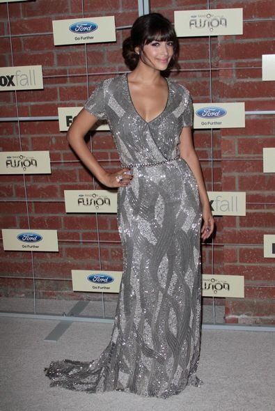 Hannah Simone at the Fox Fall Eco-Casino Party