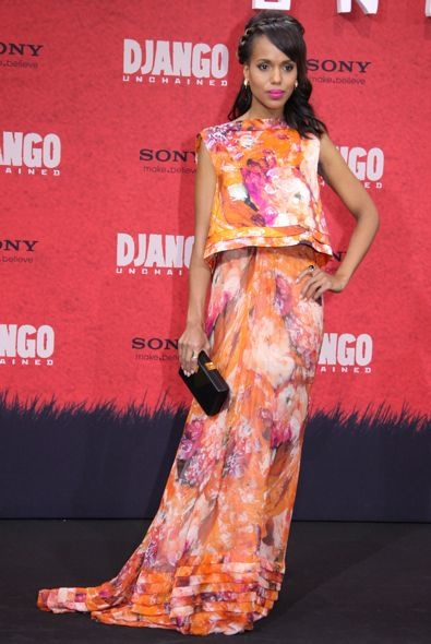 Kerry Washington at the Berlin Premiere of Django Unchained