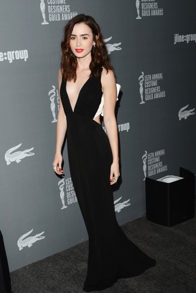 Lily Collins at the 15th Annual Costume Designers Guild Awards
