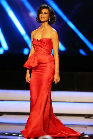 Morena Baccarin at the Laureus World Sports Awards 2013