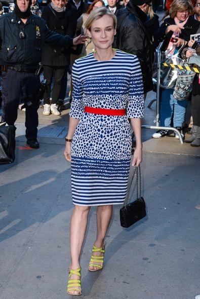 Diane Kruger Taping a Segment on Good Morning America