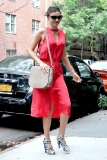 Miranda Kerr Outside Her New York City Apartment
