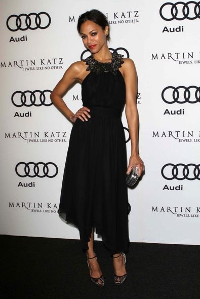 Zoe Saldana at the Audi and Martin Katz Kick Off Golden Globes Week 2012 
