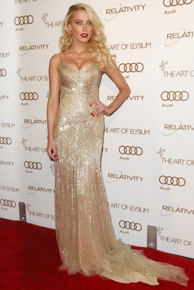Amber Heard at the 2012 Art of Elysium Heaven Gala