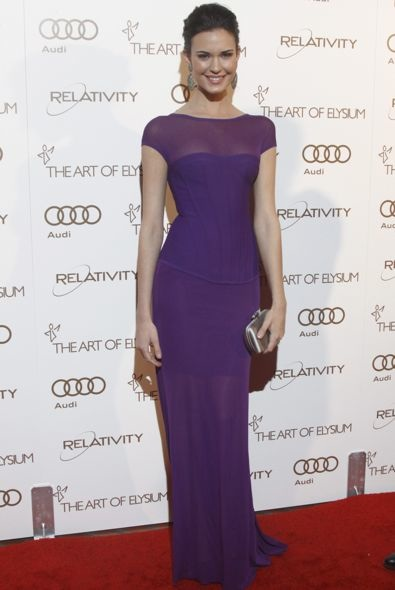 Odette Annable at the 2012 Art of Elysium Heaven Gala