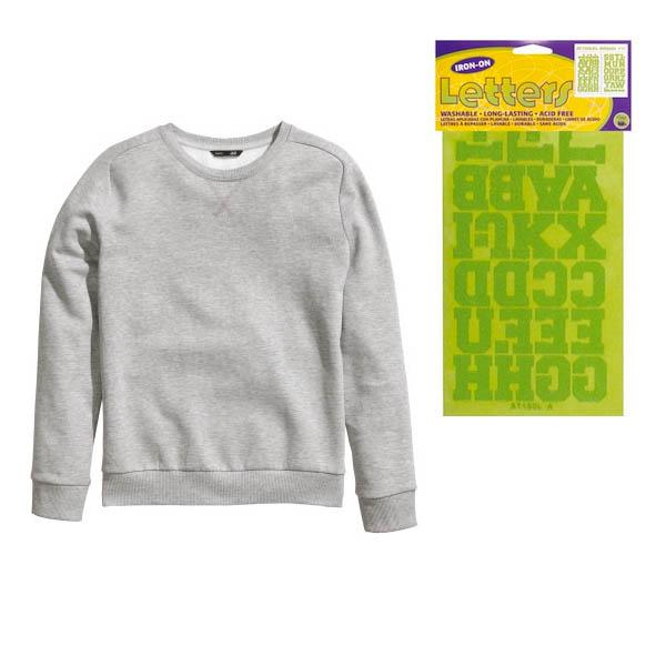 DIY: Iron-On Sweatshirt
