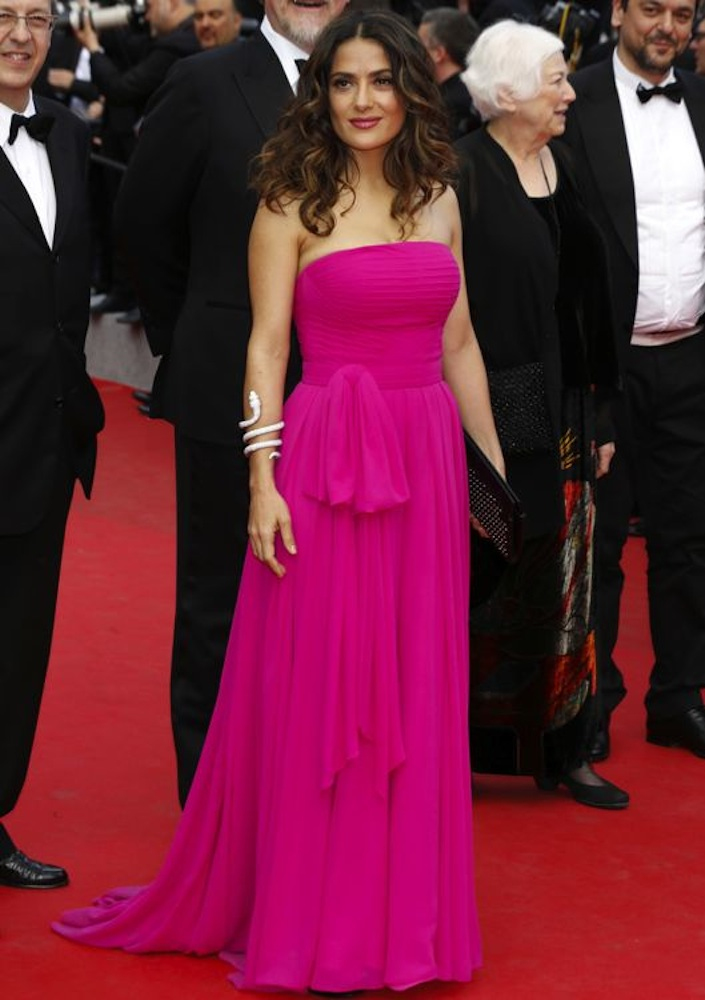Salma Hayek at the Premiere of Saint Laurent