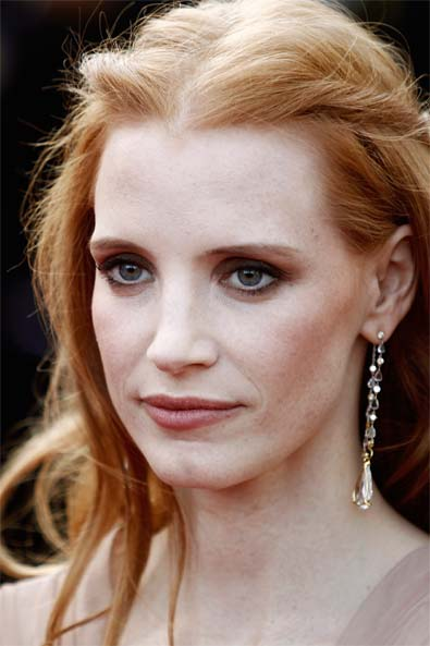 Jessica Chastain's Bronzed, Sculpted Cheeks