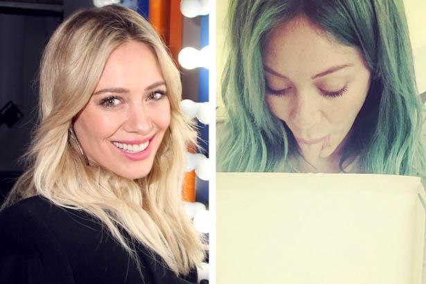 Hilary Duff Goes Mermaid Blue