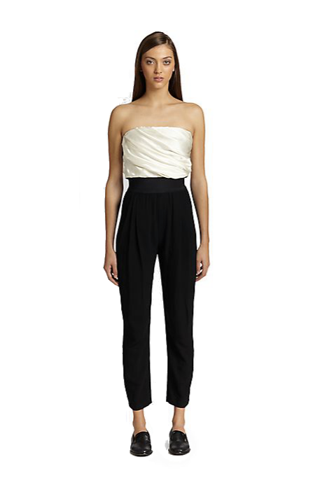 Band of Outsiders Strapless Jumpsuit