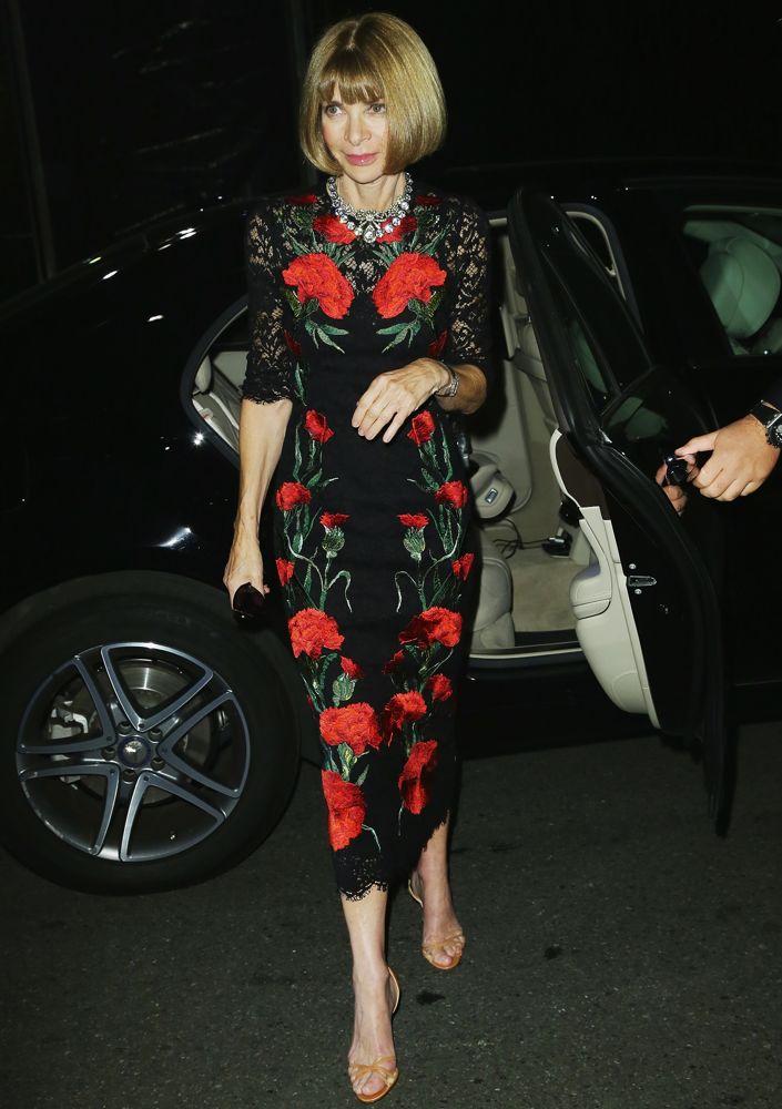 Anna Wintour in Dolce & Gabbana