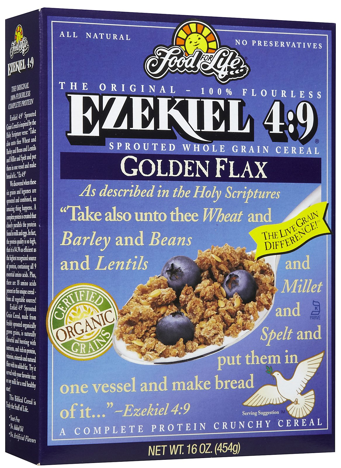 Food For Life Ezekiel 4:9 Organic Sprouted Grain Cereal, Golden Flax