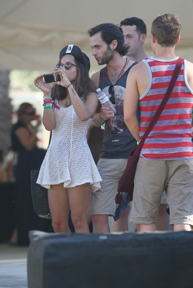 Zoe Kravitz and Penn Badgley Day 2