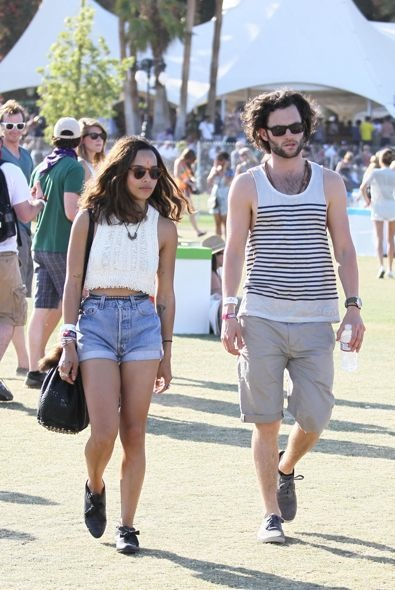 Zoe Kravitz and Penn Badgley Day 3