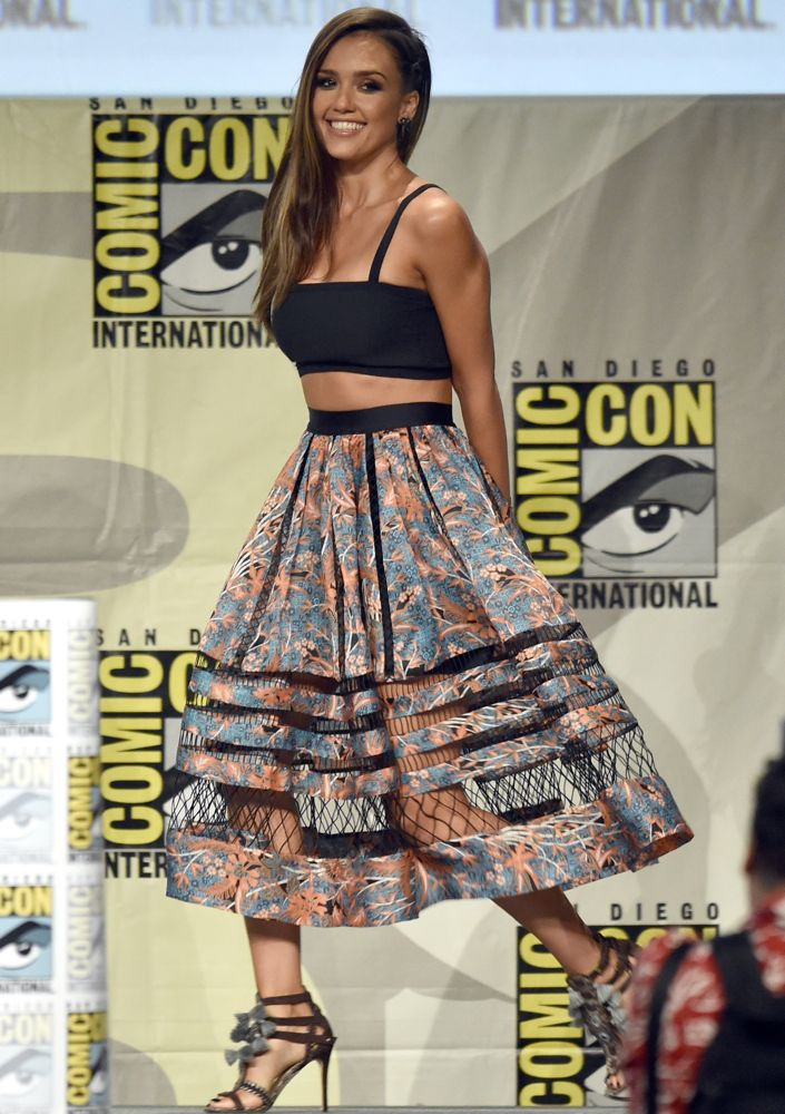 Jessica Alba at Frank Miller's Sin City: A Dame to Kill For Panel