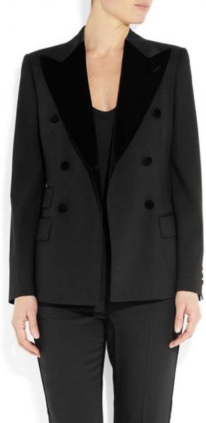 Dolce & Gabbana Velvet-Trimmed Twill Blazer
