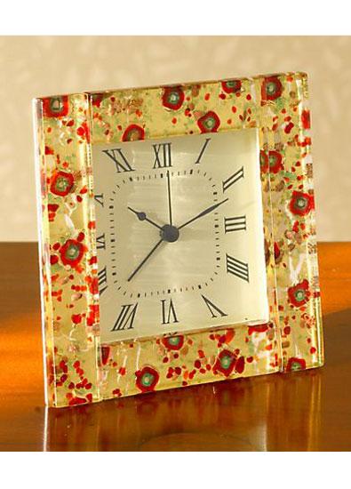 Murano Venetian Poppy Clock