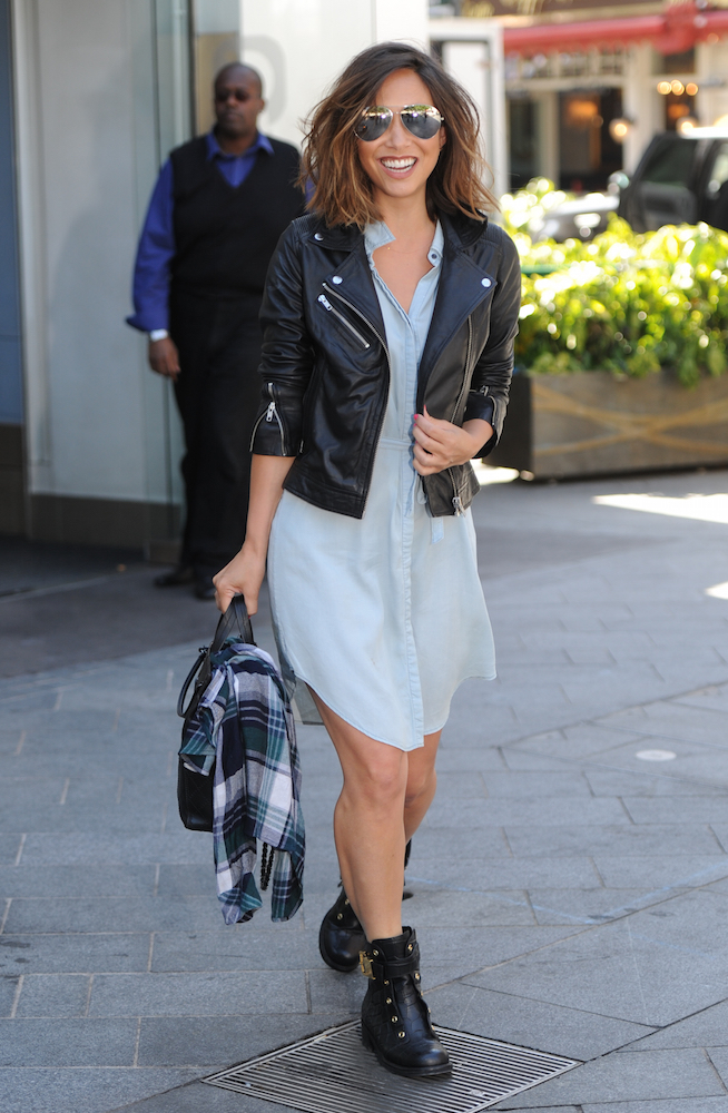 Denim Dress: Myleene Klass
