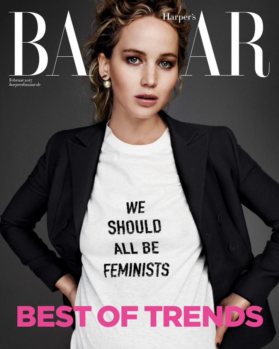 Jennifer Lawrence In Dior T-shirt