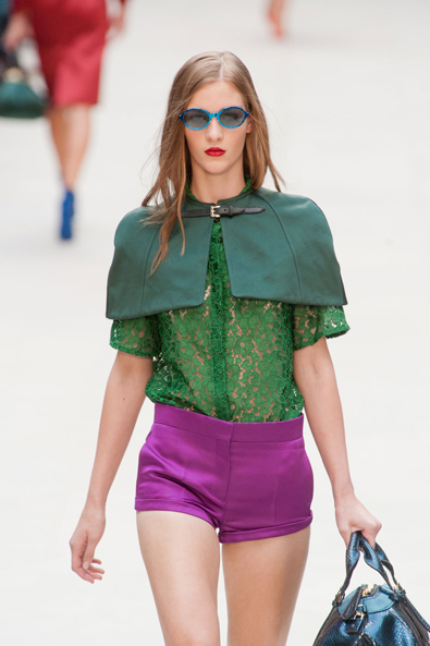 Jewel Tones at Burberry Prorsum
