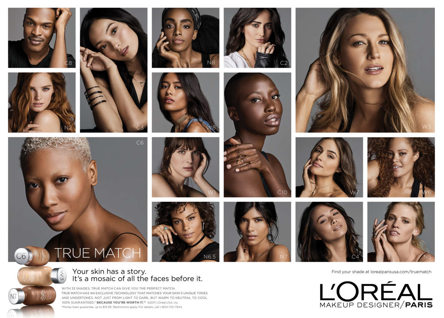 L'Oréal Paris Debuted Its Truly Inclusive True Match Campaign