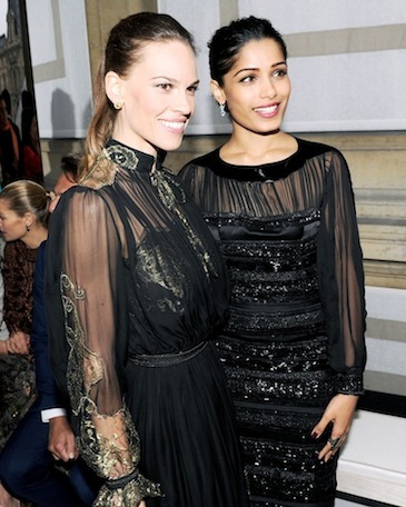 Hilary Swank and Frida Pinto