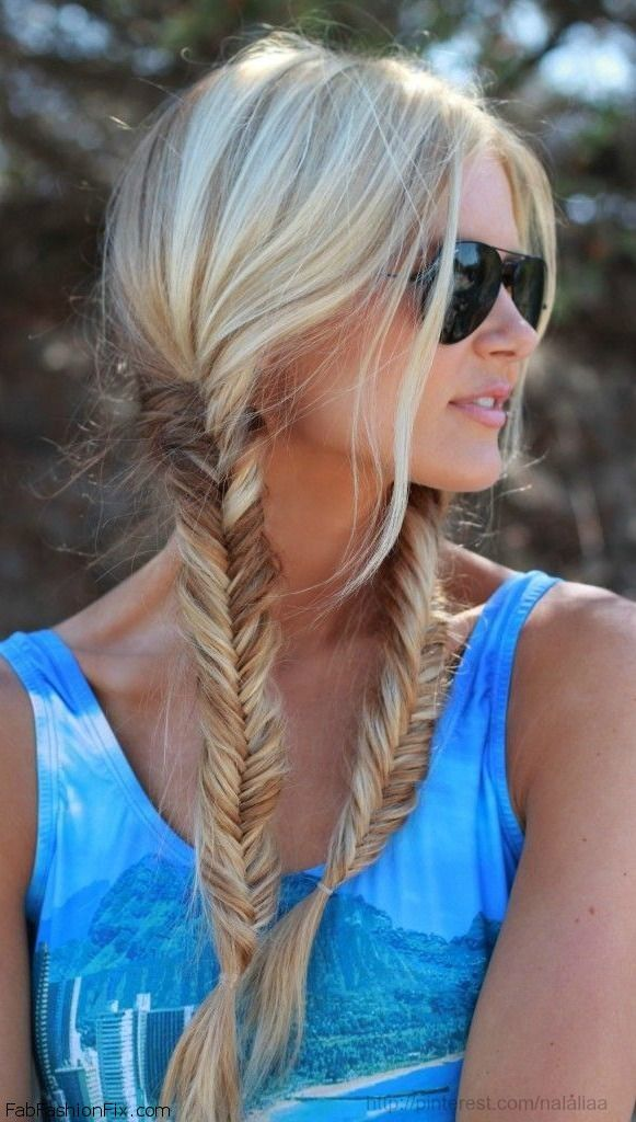 Double Fishtail Braids