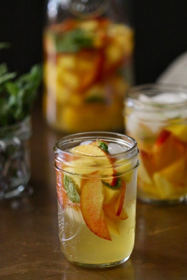 Pineapple, Peach and Mango Water
