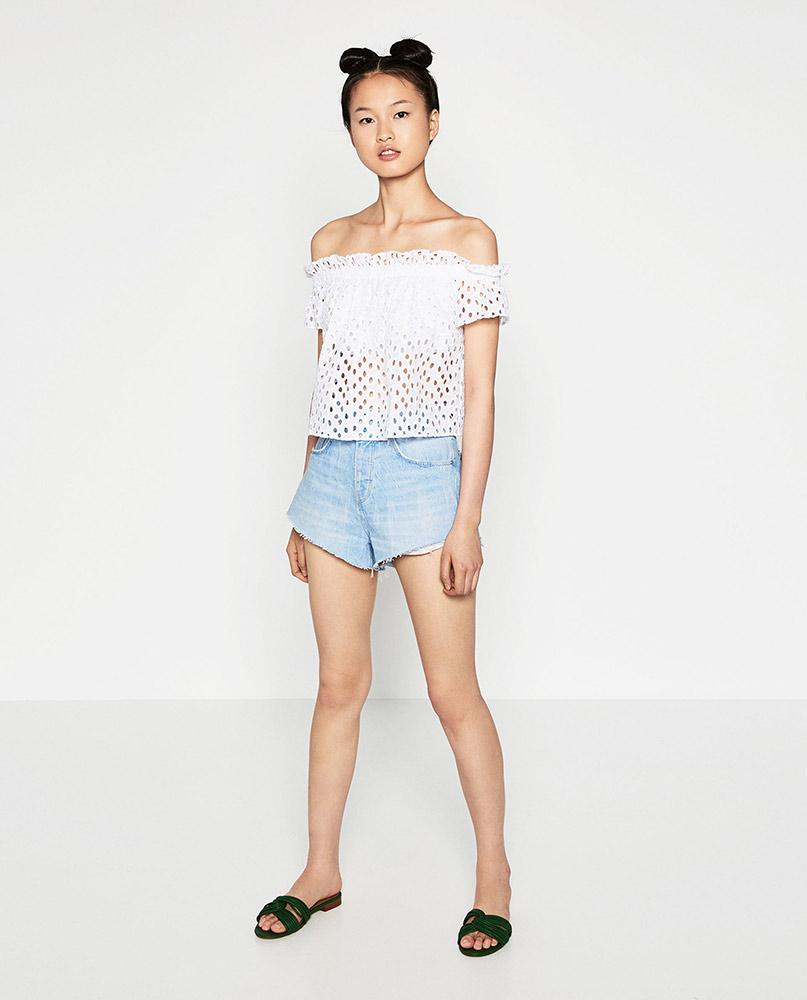 Zara lace dress off white 2018