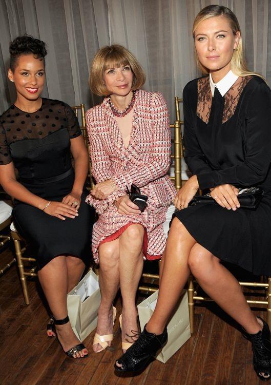 Alicia Keys, Anna Wintour and Maria Sharapova