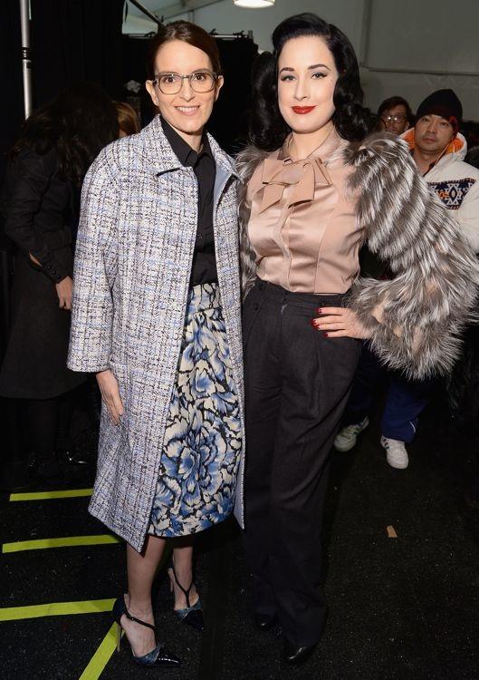 Tina Fey and Dita Von Teese