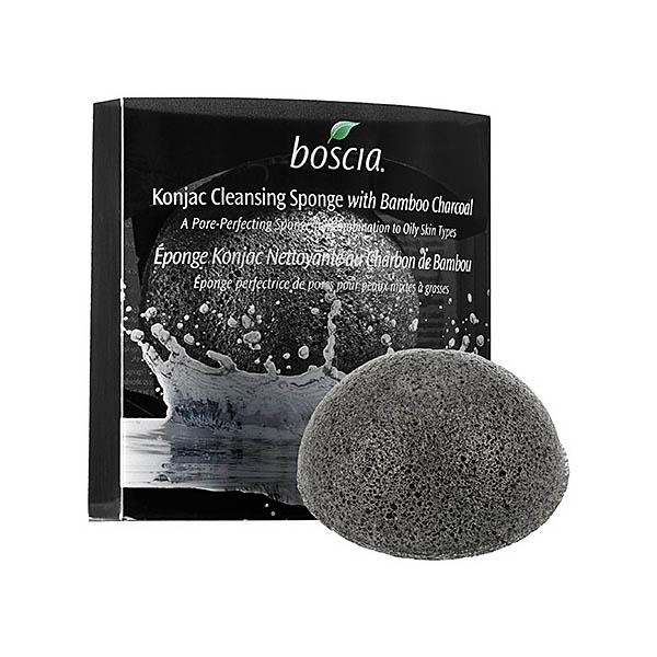 boscia Konjac Cleansing Sponge with Bamboo Charcoal
