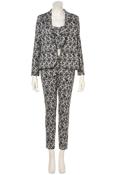 Topshop Lace Print Suit