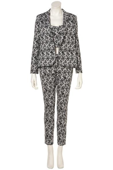 Topshop Lace Print Suit