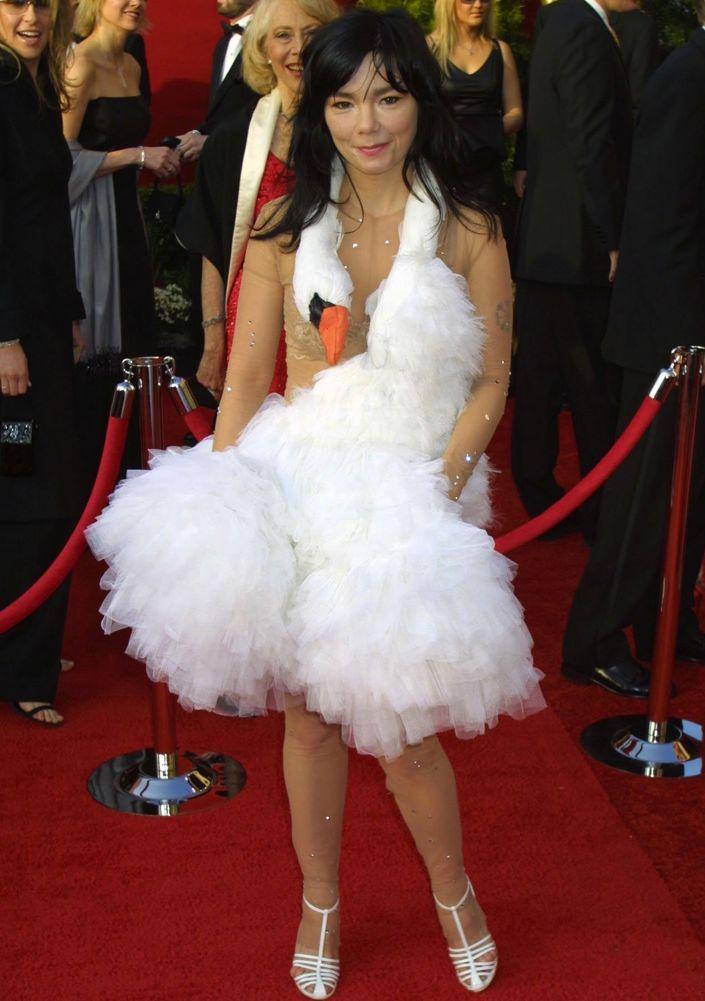 Björk at the 73rd Annual Academy Awards
