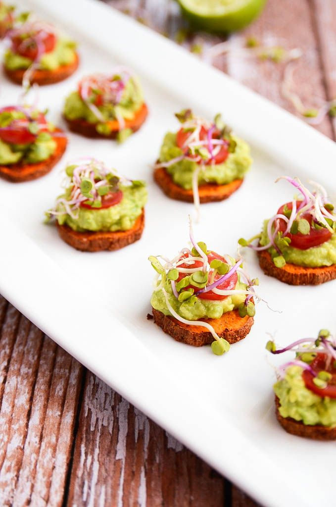 Sweet Potato and Avocado Bites