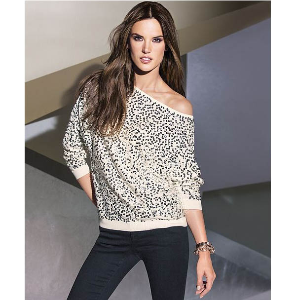 All Over Sequined Sweater