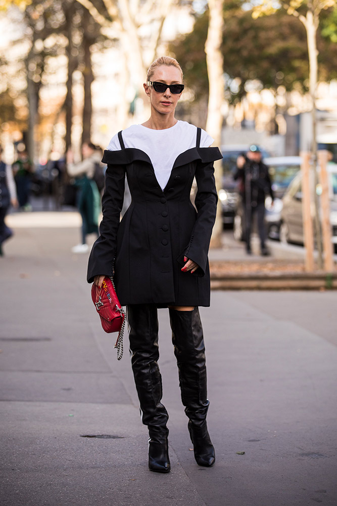 Elina Halimi at Paris Fashion Week