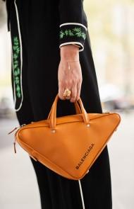 20. A Teeny (Geometric) Top-Handle Bag
