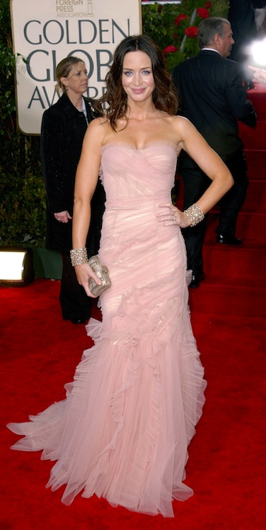 3. Emily Blunt at the 2010 Golden Globes in Dolce & Gabbana