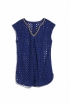 Eyelet Cover Up in Navy