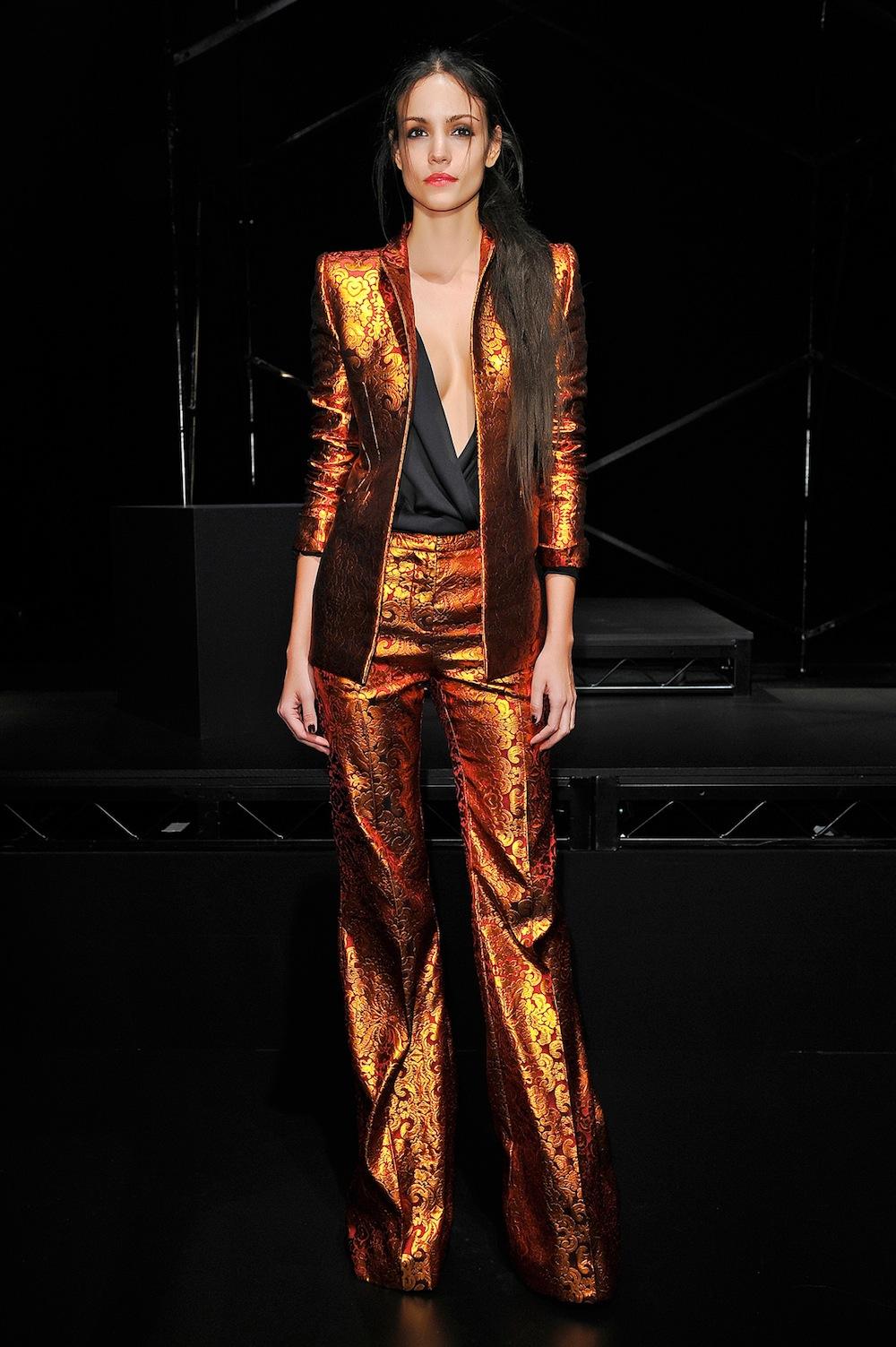 Metallic Le Smoking Suit at Wes Gordon