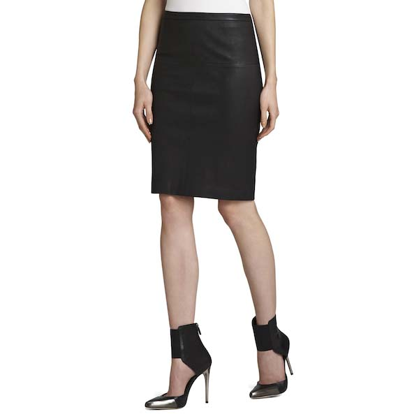 BCBGMAXAZRIA Leah Leather Pencil Skirt