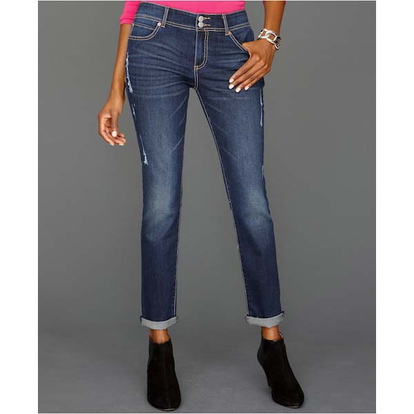 Straight-Leg Boyfriend Jeans