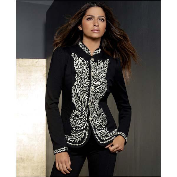 Metallic-Embroidered Jacket