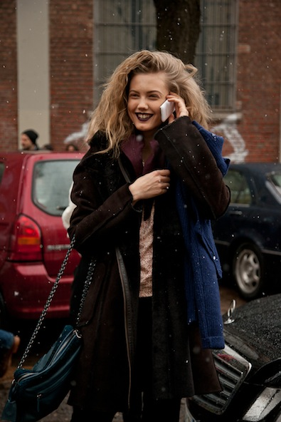 Lindsey Wixson leaving Fendi Show