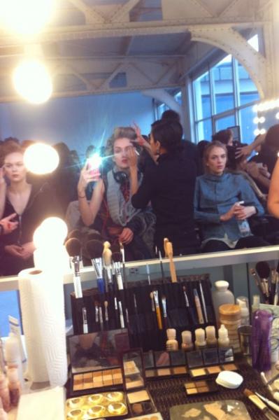 Hair and makeup at Stevan Alan